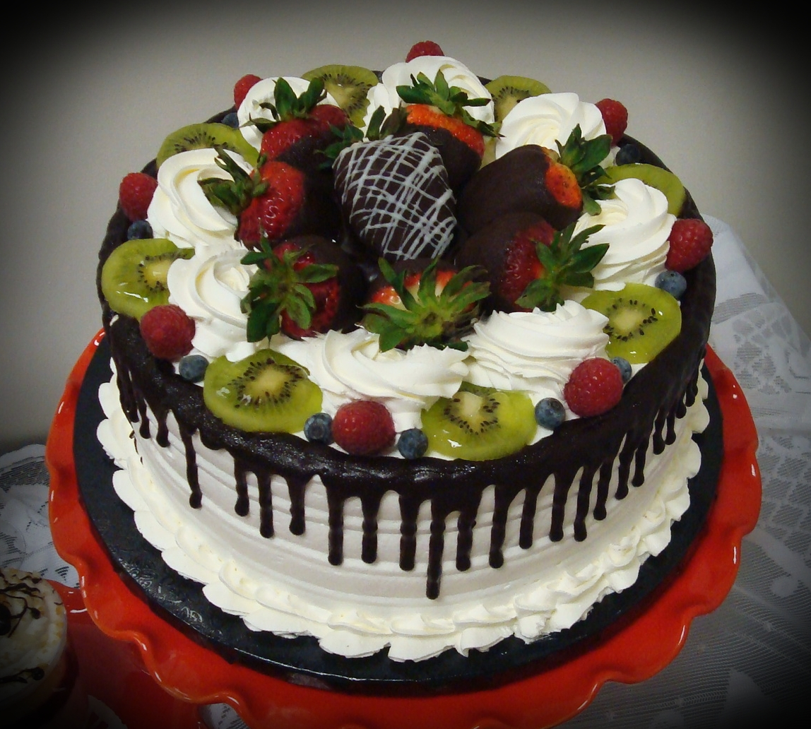 Cake With Fruit Topping : Cake Fruit Designs images